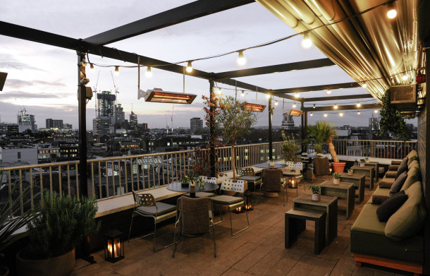 The Rooftop Bar & Terrace, Ace Hotel London Shoreditch.